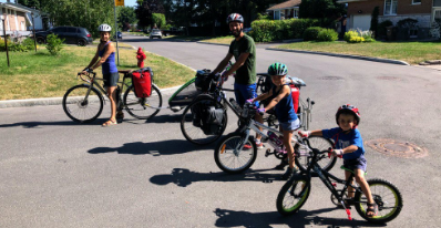 Voyager à vélo en famille