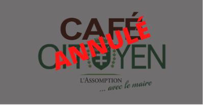 Café-citoyen avec le maire - ANNULÉ