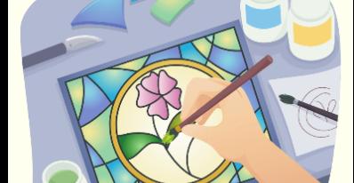 POUR LES JOURNÉES DE LA CULTURE -  Atelier de faux vitrail
