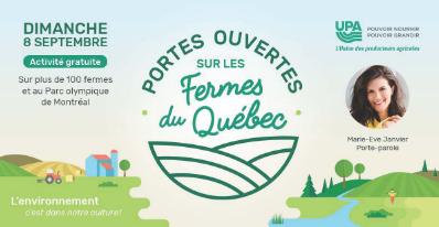 Portes ouvertes sur les fermes du Québec