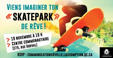 Viens imaginer ton «skatepark» de rêve!