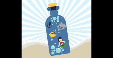Mini-Aquarium dans une bouteille