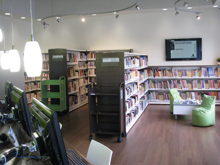 Livre-Service (point de service de la Bibliothèque Christian-Roy)