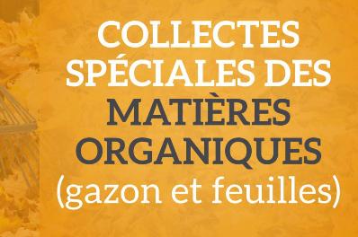 Rappel - Collecte spéciale des matières organiques | gazon et feuilles