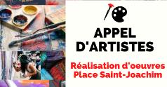 Appel aux artistes | Réalisation d'oeuvres d'art à la Place Saint-Joachim