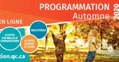 Programmation Automne 2020   maintenant EN LIGNE !