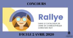 Concours - Rallye dans le catalogue en ligne de la Bibliothèque