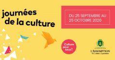 Journées de la culture 2020 : plusieurs activités culturelles gratuites à L'Assomption